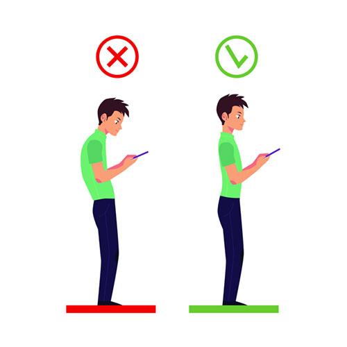Giữ tư thế đúng khi dùng điện thoại